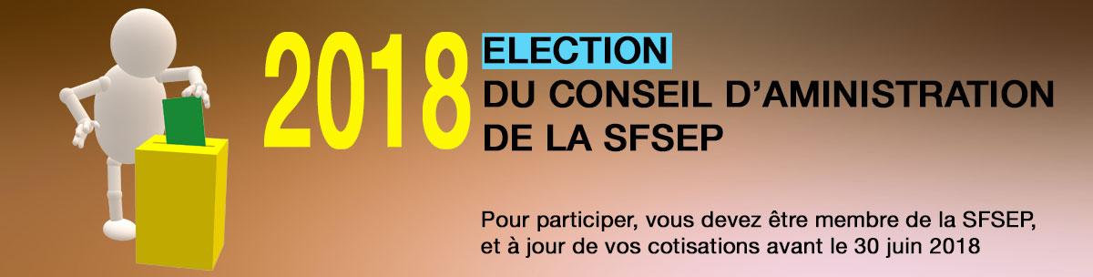 Election du conseil d'administration de la SFSEP en 2018