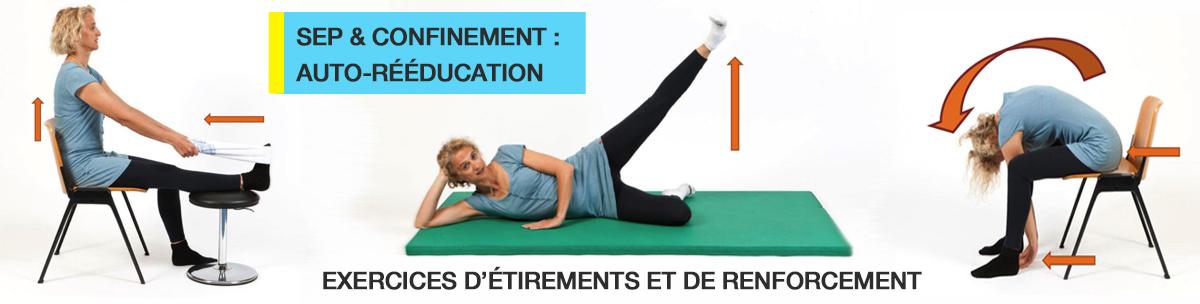 Confinement et SEP : Auto rééducation (Exercices d'étirements et de renforcements)